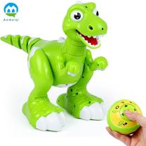 M AOMEIQI Remote Control Dinosaur Spraying Water RC Interative Walking Pet Light Up Eyes Dragon Dinosaur Robot with Humidifier Function Sing Dance Music for Kids Green