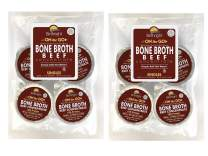 Organic Beef Bone Broth Collagen Concentrate, Single Serve Cups, Organic Grass Fed Beef Bone Broth with 18 Grams of Protein and 20 Grams of Collagen Per Serving (Beef, 8 Servings)