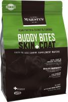 Majesty's Skin+Coat Buddy Bites - 56 Count, Medium/Large Dog - Skin, Coat & Immune System Support Supplement - Peanut Butter/Coconut Oil Flavored - Omega 3, 6, 9 & Biotin - Healthier Skin & Coat