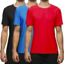 Lavento Men's Workout Shirts Mesh Cool Dry Crewneck T-Shirts