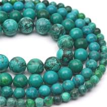 """Oameusa 10mm Piebald Turquoise Beads Round Beads Gemstone Beads Loose Beads Agate Beads for Jewelry Making 15"""" 1 Strand per Bag-Wholesale"""
