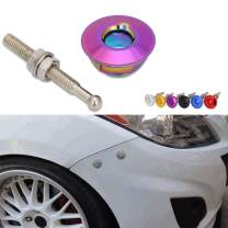"""Kyostar Quick Latch Hood Pins Universal Low Profile Hood Pins Lock Car Lock Clip Kit 1.25"""" Quick Latch for Hood Bumper or DIY (Neo Chrome)"""