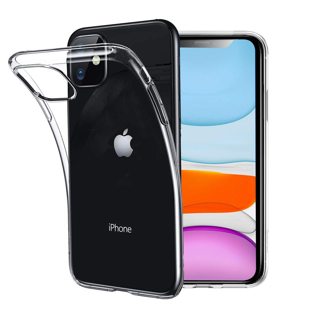 Unov Case Clear for iPhone 11 Case Slim Protective Soft TPU Bumper Cover 6.1 Inch (Crystal Clear)
