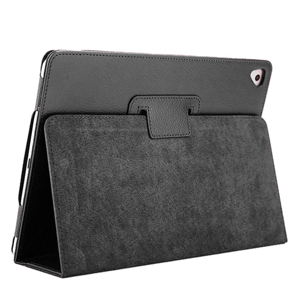 """iPad Air 2 Case,2018/2017 9.7 iPad/Cover,FANSONG Bifold Series Litchi Stria Slim Thin Magnetic PU Leather Smart Cover [Flip Stand,Sleep Function] Universal for Apple iPad Air/Air 2/Pro(9.7""""), Black"""