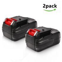 Enegitech 2Pack 18V 3.0Ah Ni-Mh Battery for Porter Cable PC18B PCC489N PCMVC PCXMVC Cordless Power Tools