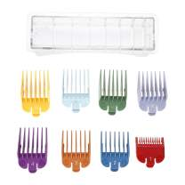 Universal Colored Hair Limit Comb Hair Clipper Haircut Guide Attachment Size Comb Barber Replacement - 8 Sizes