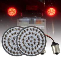 """Atubeix 2"""" LED Turn Signal Inserts Red Rear turn signals Kits (Bullet style) For Motorcycle with taillights (1156 Socket)"""