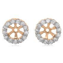 Dazzlingrock Collection 0.30 Carat (ctw) 14K Gold Round Diamond Removable Jackets for Stud Earrings 1/3 CT