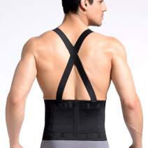 CROSS1946 Work Back Brace,Lumbar Support with Adjustable Suspenders for Industrial Work, Weightlifting,Back Pain Relife,Heavy Lifting Safety,Men &Women