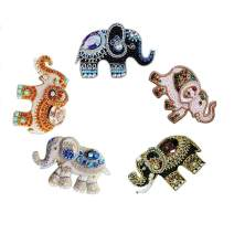 DIY Key Chains Diamond Painting by Numbers Kits, Full Drill Rhinestone Mosaic Making Christmas Decorative for Art Craft Key Ring Phone Charm Bag Decor (5 Pack) (Artistic Elephant)