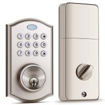 Keypad Deadbolt Lock, Easy to Install and Program, Keypad Deadbolt with Auto-Alarm, Keyless Entry Door Lock with Auto-Lock Function for Security, 50 Customizable User Codes, and Back-Lit Smart Keypad