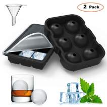Homgeek Chocolate Candy Jelly Molde Ice Cube Trays Silicone Set of 2 for Whiskey and Cocktails