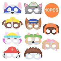 10pcs Animal Felt Masks Party Favors for Kids Dress Up Costume Set with Elastic Rope Mask for Birthday Thanksgiving Day Perfect for Children