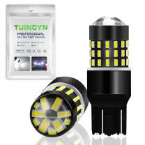 TUINCYN 7443 7440 T20 992 7444NA LED Bulbs White Super Bright 3014 54-EX Chipsets Backup Reverse Light, Parking Light, Daytime Running Light, Rear Turn Signals Light, Tail Light(2-Pack)