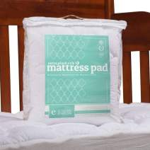 "ExceptionalSheets Toddler/Crib Mattress Pad - Water Resistant Fitted Mattress Topper Perfect for Small Children/Infants - 27.5"" x 52"" - 2 Styles Available"