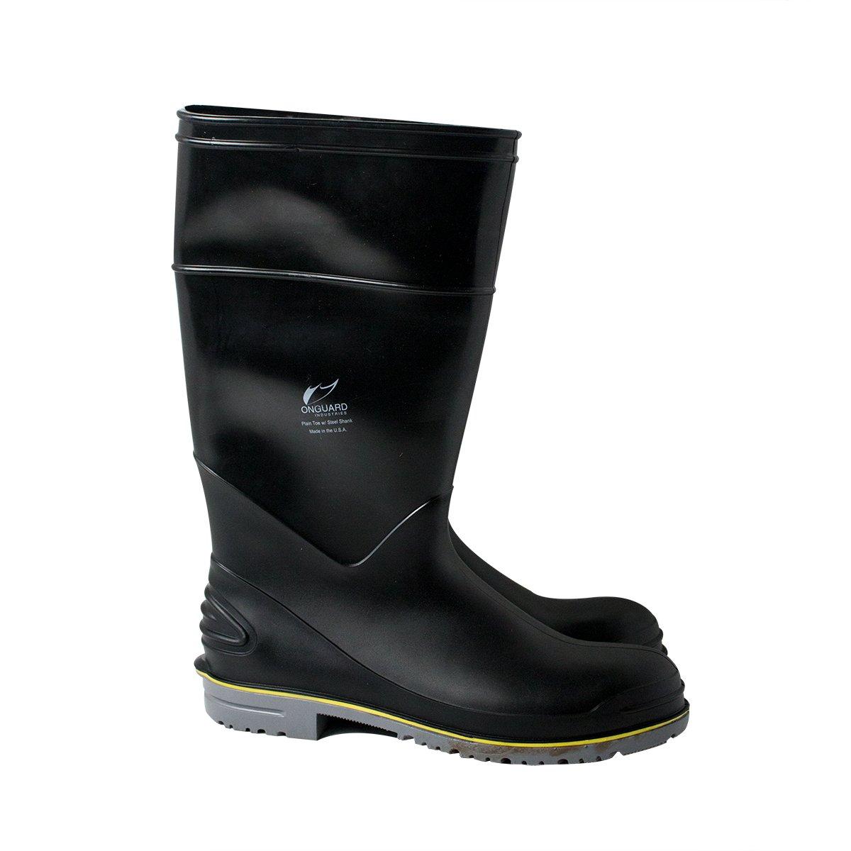 "UltraSource 440064-12 Flex 3 PVC Boots, 16"", Black, Soft Toe, Size 12"