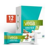 Vega Protein Snack Bar Coconut Almond (12 Count) - Plant Based Vegan Protein Bars, Non Dairy, Gluten Free, Non GMO