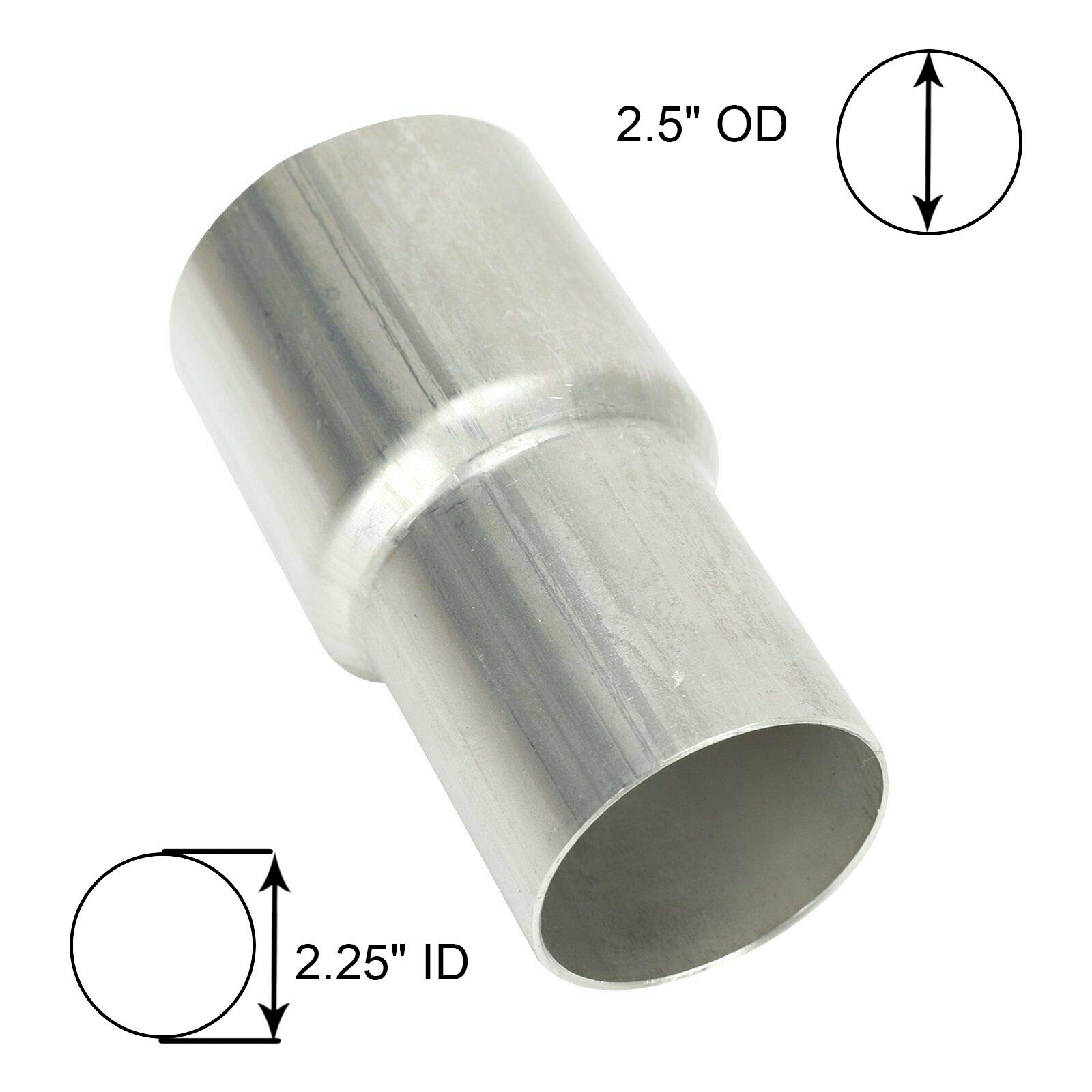 """BETTERCLOUD 2.25"""" ID to 2.5"""" OD Exhaust Pipe to Component Adapter Reducer"""