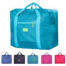 Unova Travel Duffel Bag Packable Light Nylon Water Resistant Gym Tote Weekend Overnight Carry-on Bag (Green)