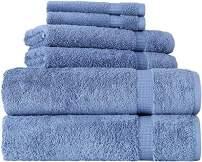 SALBAKOS Cambridge Ultra Luxury Hotel Collection & Spa Bath Towels Turkish Cotton Bath Towels Made in Turkey 700gsm Eco-Friendly Bulk Save (6 Piece Set, Blue)
