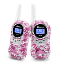 Qniglo Walkie Talkies for Kids, 22 Channels 2 Way Radios 3 Miles Long Range Kids Walkie Talkies, Toys Gifts for 3-12 Year Old Boys and Girls (Camo Pink, 1 Pair)