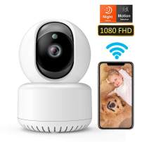 DADYPET Pet Camera, Baby Monitor, WiFi Camera, 1080P FHD Wireless IP Security Home Dome Camera with Night Vision/Two-Way Audio/Cloud Storage/Motion Detection