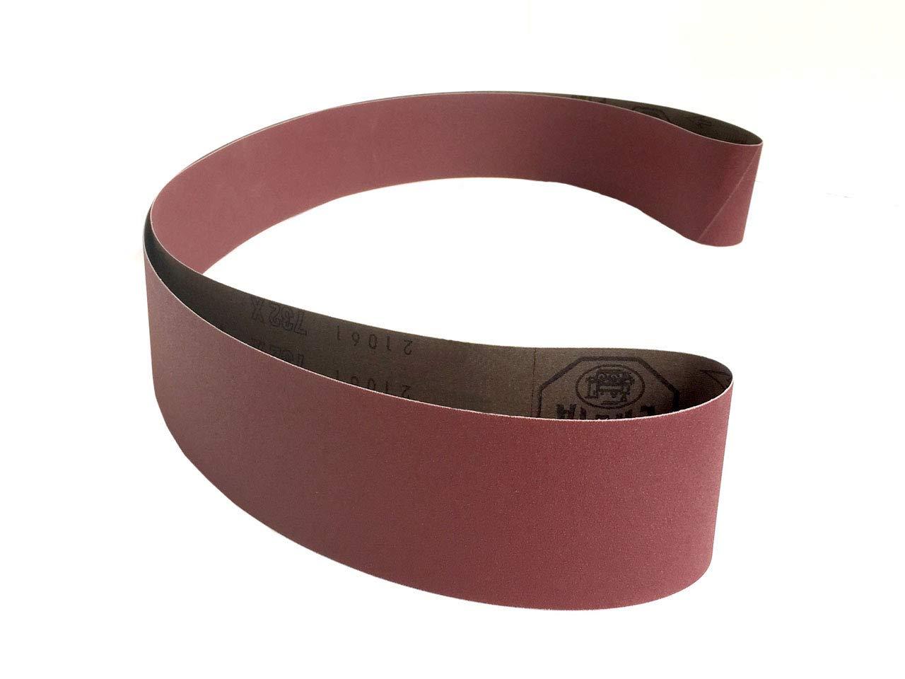 "8 Pack STARCKE 3"" x 90"" 24 Grit Premium Aluminum Oxide Cloth Sanding Belts for Wood, Metal & Solid Surface"