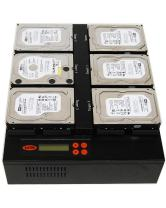"""Systor 1 to 5 SATA 150MB/s Flatbed HDD SSD Duplicator/Sanitizer - 3.5"""" & 2.5"""" Hard Disk Drive Solid State Drive Dual Port Hot Swap (SYS405HDD)"""