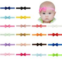 20Pcs Baby Girls Headbands Chiffon Flower Lace Hair Band Accessories for Newborns Infants Toddlers (20 Pcs Style 4)