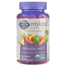 Organics Prenatal Gummy Vitamins - Berry - Organic, Non-GMO, Vegan, Kosher Complete Multi - Methyl B12, D3 & Folate - Gluten, Soy & Dairy Free - 120 Real Fruit Chew Gummies