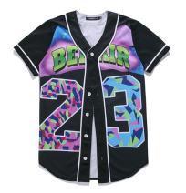 SAINDERMIRA Unisex 3D Digital Galaxy Baseball Jersey Button Down Shirt