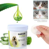 GARYOB Eye Tear Stain Remover Wipes for Cats & Dogs, Best Natural Eye Crust Treatment for White Fur, 100 Pre Soaked Cotton Pads