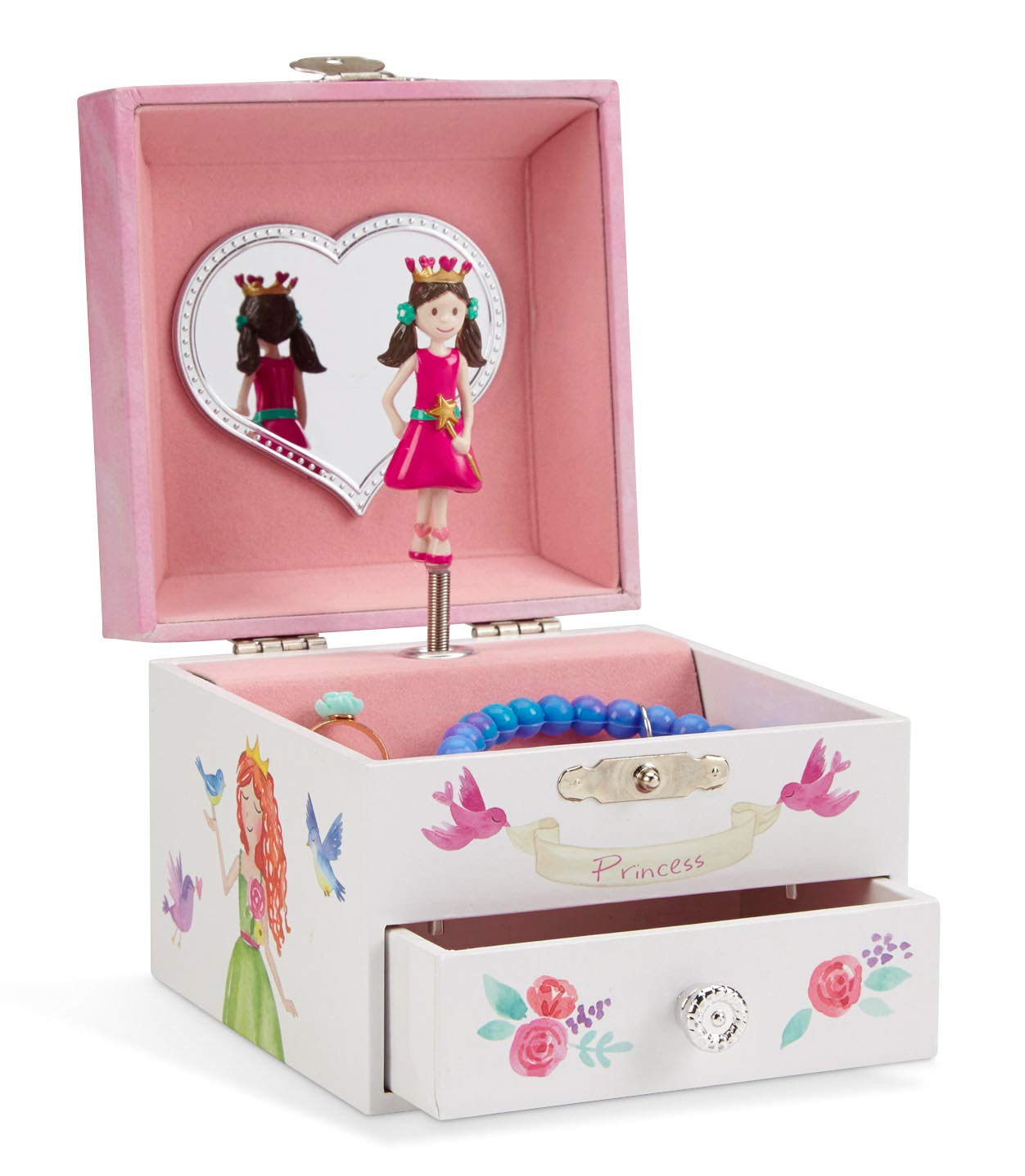 Jewelkeeper Unicorn Musical Jewelry Box, Fairy Princess Castle and Hearts Design with Pullout Drawer, Dance of The Sugar Plum Fairy Tune