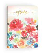 Paper House Productions JL3007 Watercolor Floral Grace Softcover Journal Dot Grid Notebook