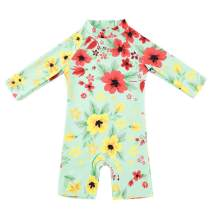 Infant Swimsuit Baby Boy Swimwear Baby Girl Sunsuits Toddler One Piece Bathing Suit with Sun Hat