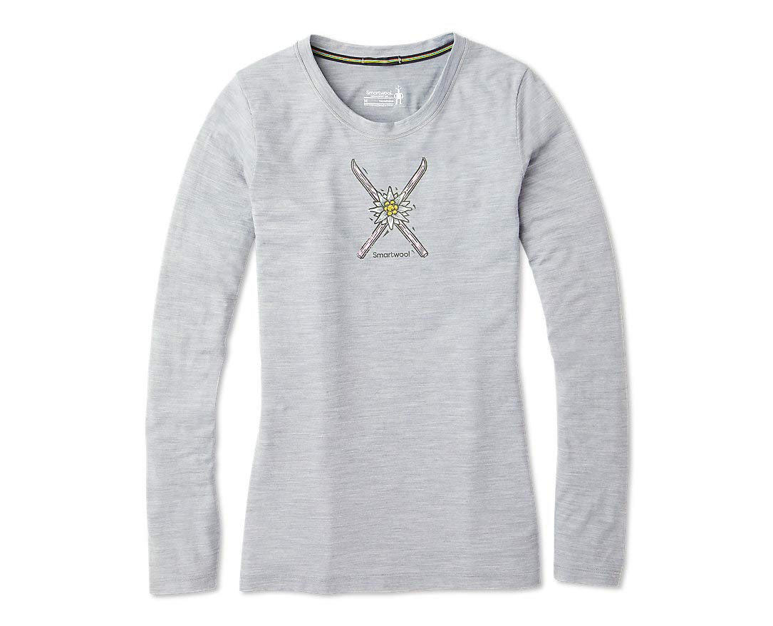 Smartwool Women's Long Sleeve Tee - Merino Sport 150 Wool Powder Flower Graphic Shirt