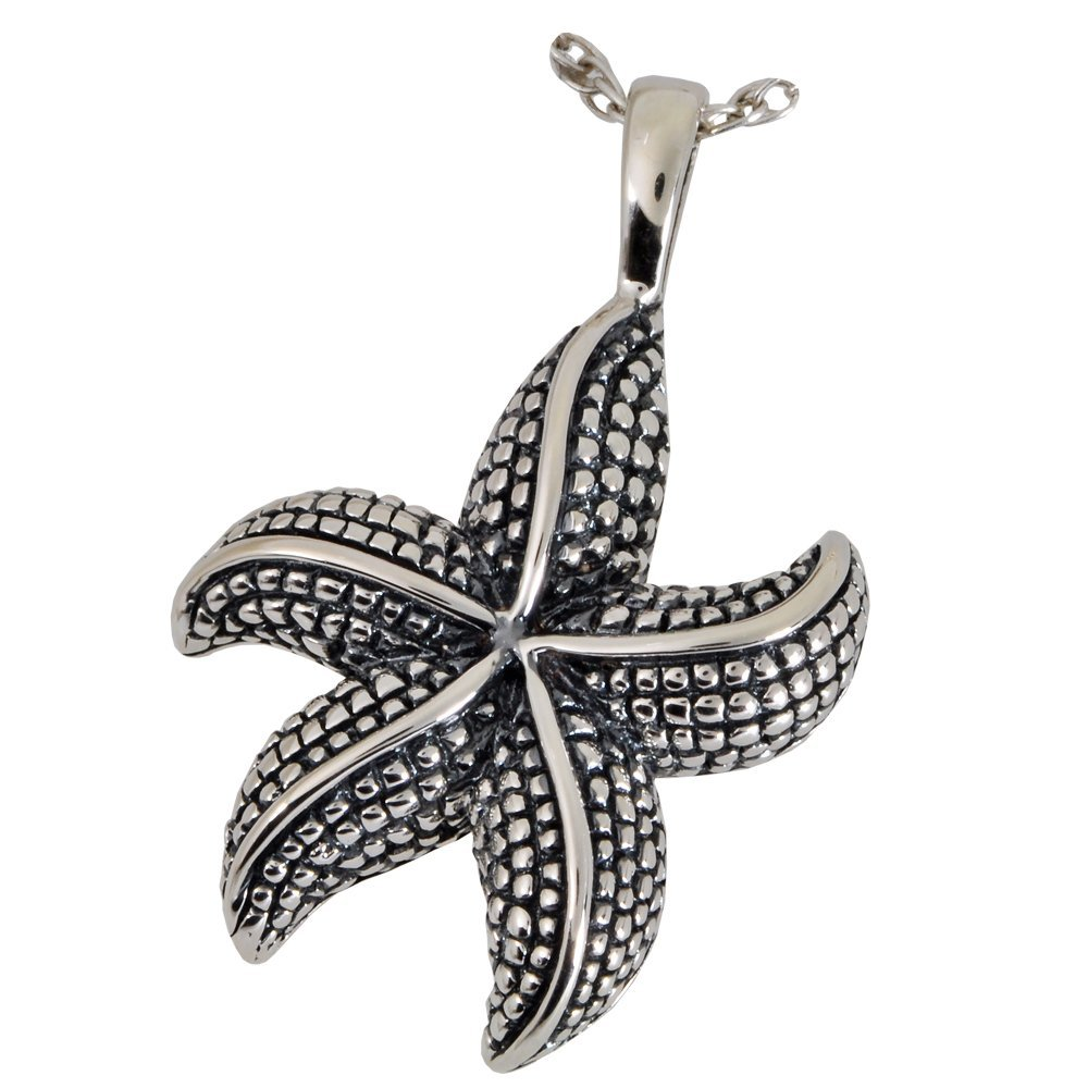 Memorial Gallery 3130gp Star Fish 14K Gold/Sterling Silver Plating Cremation Pet Jewelry