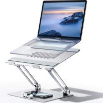 """Carkoci Laptop Stand, Multi-Angle Stand with Heat-Vent to Elevate Laptop,Supports up to 20lbs,Compatible with MacBook, All Laptops Tablets 10-17.3"""" (Silver)"""