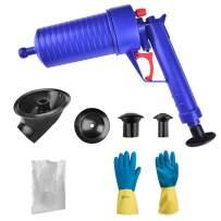 Coquimbo Air Drain Blaster, Air Pressure Pump Drain Cleaner Unclogs Toilets Sinks Plunger (Blue)