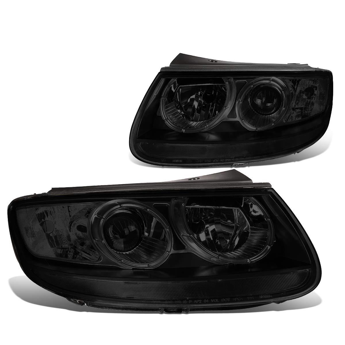 Pair Smoke Housing Clear Corner Projector Headlight/Lamps Replacement for Hyundai Santa Fe 07 08 09 10 11 12