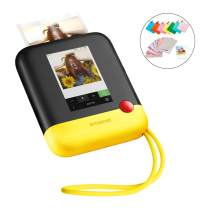 Polaroid Pop 2.0 2 in 1 Wireless Portable Instant 3x4 Photo Printer & Digital 20MP Camera with Touchscreen Display, Built-in Wi-Fi, 1080p HD Video (Yellow) Prints from Your Smartphone.