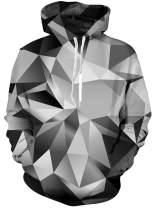 ALISISTER Mens Pullover Hoodie Unisex 3D Print Hooded Crewneck Sweatshirt Women