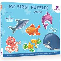 Toykraft - SEA Animals (Aqua) Puzzle for Toddlers & Preschoolers - 2 Years & Above