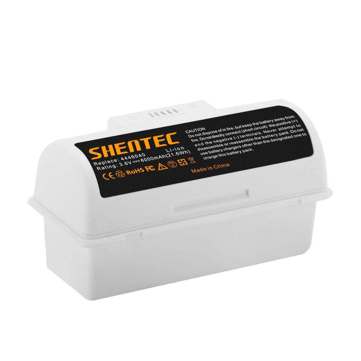 Shentec 3.6V 6.0Ah Replacement Battery Compatible with iRobot Braava Jet 240 Floor Mopping Robots, Li-ion Battery