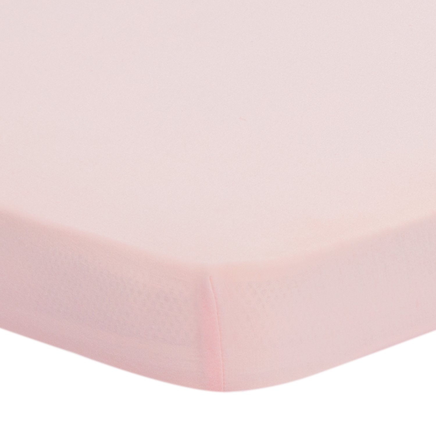 TILLYOU Jersey Knit Pack N Play Sheet Fitted, Portable Mini Crib Sheets, Ultra-Soft Breathable Playard Mattress Sheets, 27'' x 39'' x 5'', Peachy Pink