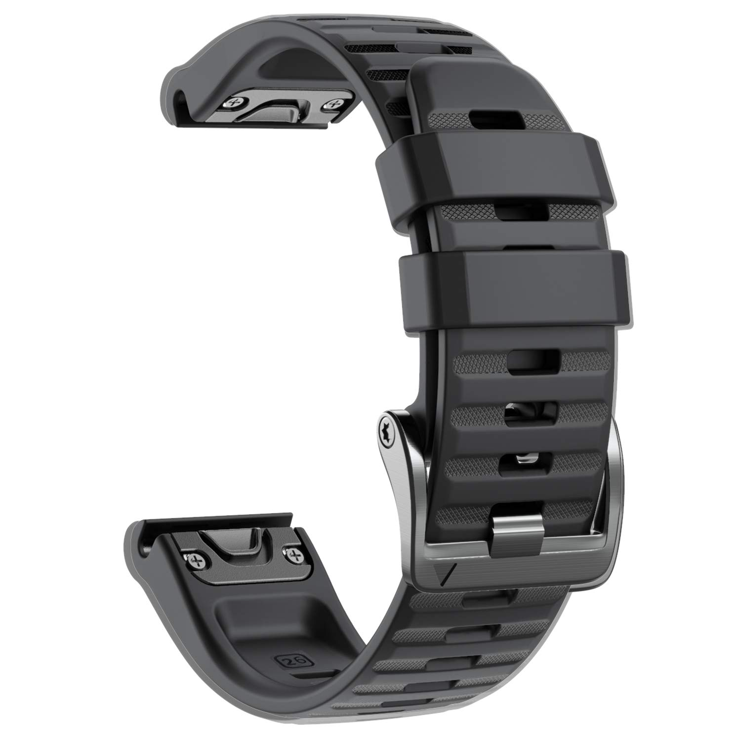 NotoCity Compatible with Fenix 6X Watch Band for Fenix 6X/Fenix 6X Pro/Fenix 5X/Fenix 5X Plus/Fenix 3/HR/Descent MK1/D2 Delta PX/D2 Charlie(Black)