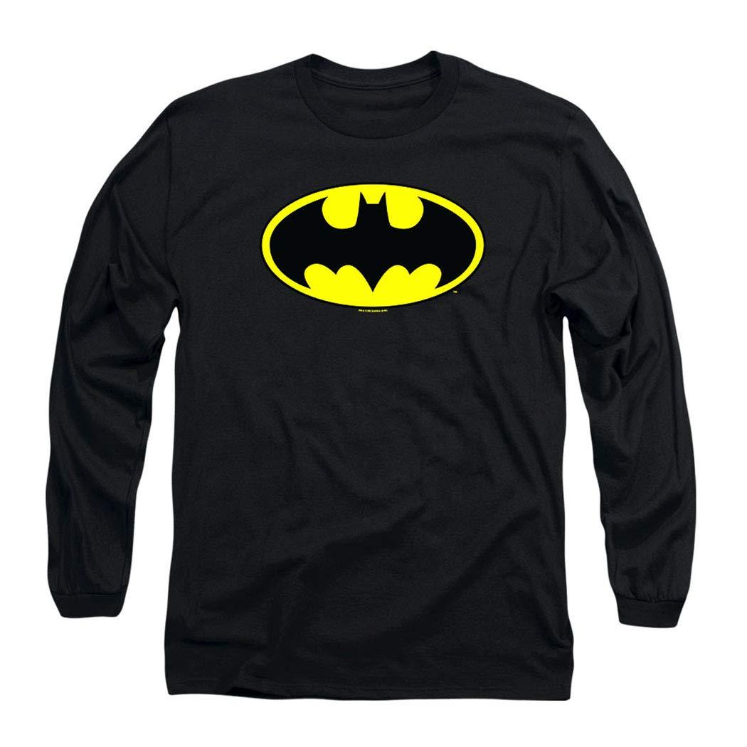 Batman Classic Logo Long Sleeve T Shirt & Stickers
