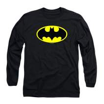 Batman Classic Logo Long Sleeve T Shirt & Stickers