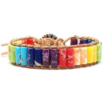 Adjustable Turquoise Gemstone Birthstone Bracelet,Healing Bracelet Elegant Turquoise Gemstone Infinity Bracelet