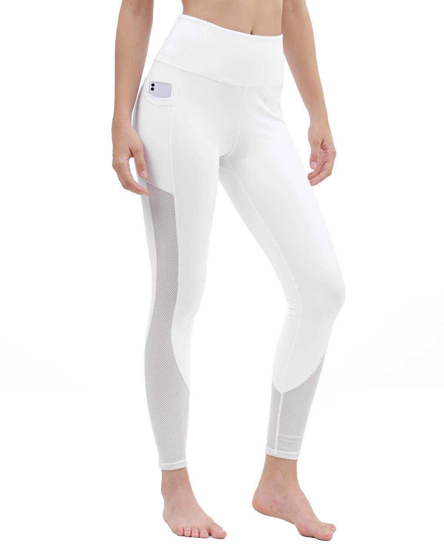 DIELUSA Women High Waisted Yoga Pants Gym Athletic Workout Capri Leggings